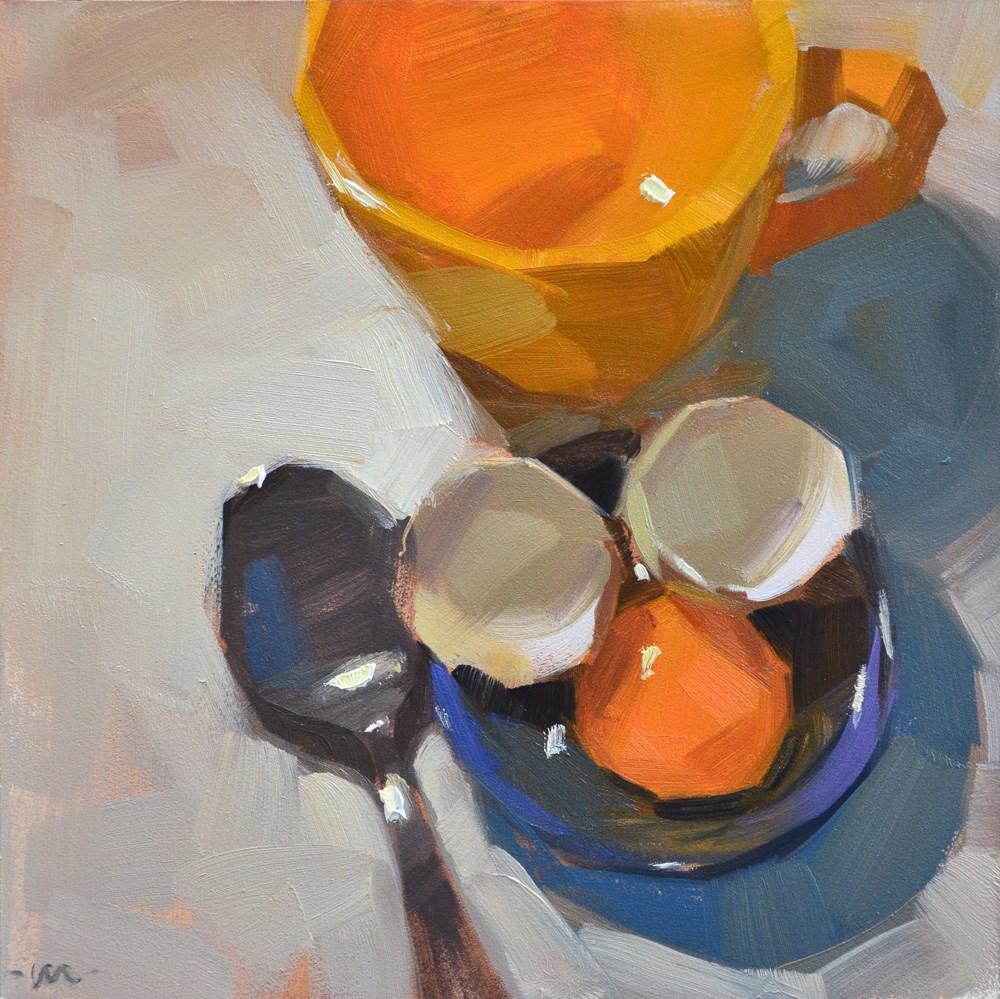 """Funny Face Breakfast"" original fine art by Carol Marine"