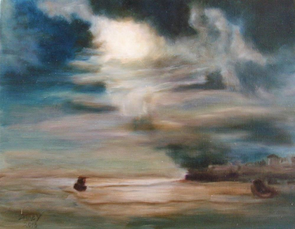 """Twilight on the Beach"" original fine art by Lynn Darby"