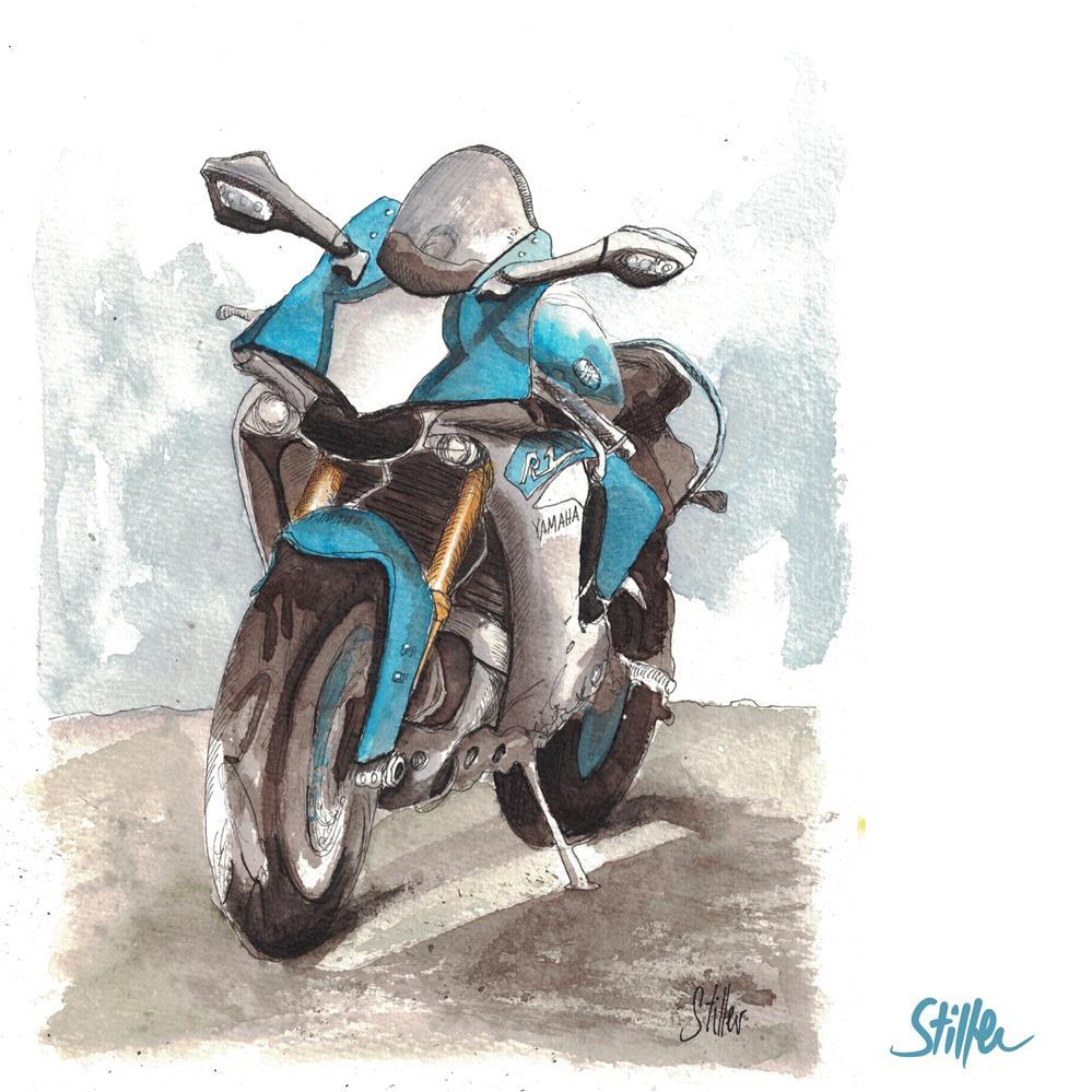 """3609 Motorcycle"" original fine art by Dietmar Stiller"