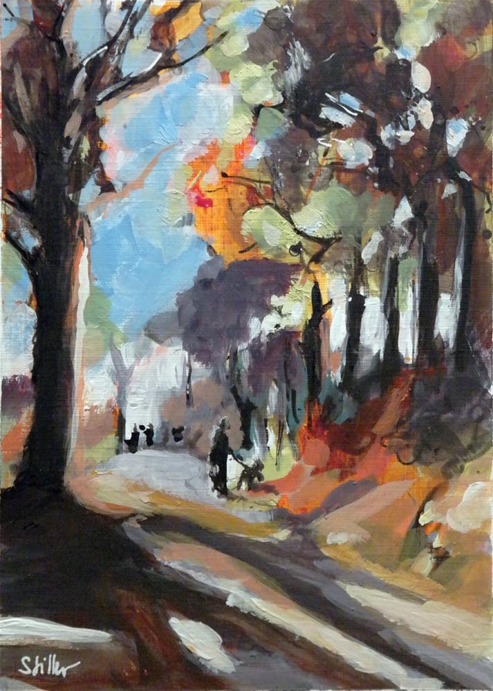 """""""2634 November Dogwalk"""" original fine art by Dietmar Stiller"""