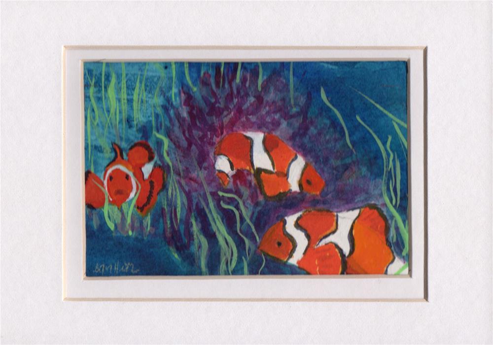 """""""Clown Fish"""" original fine art by Bunny Griffeth"""