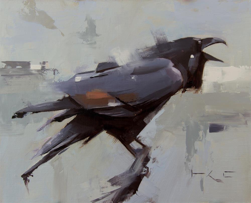 """Raven calling"" original fine art by Thorgrimur Andri Einarsson"