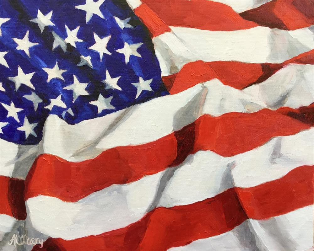 """Stars and Stripes Forever"" original fine art by Alice O'Leary"