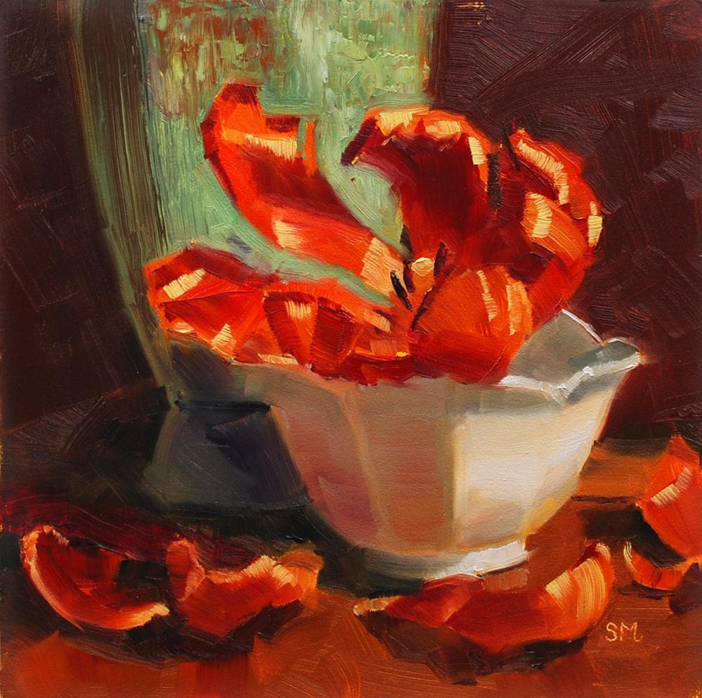 """Lone Tulip"" original fine art by Susan McManamen"