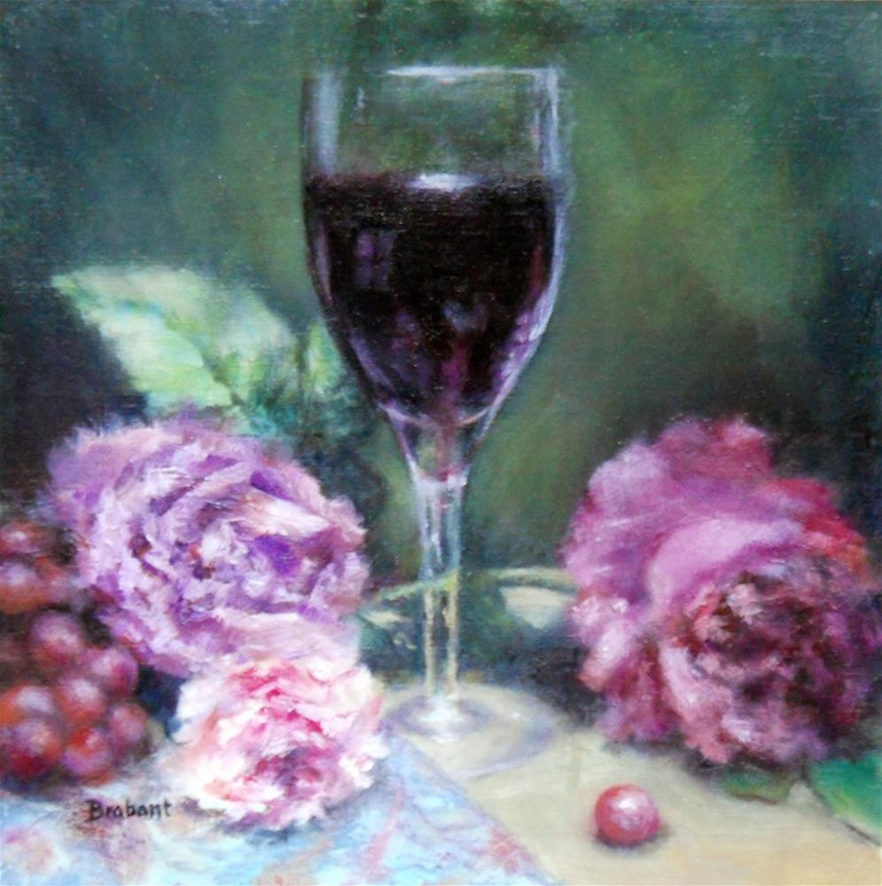 """""""Of Wine and Roses"""" original fine art by Jill Brabant"""