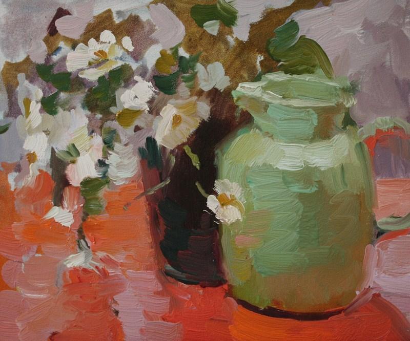 """Daisy Study NFS"" original fine art by Kathryn Townsend"