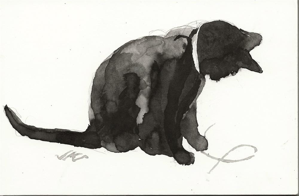 """Daily Cat 78"" original fine art by Jean Krueger"