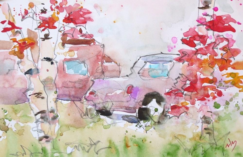 """rusty days"" original fine art by Nora MacPhail"
