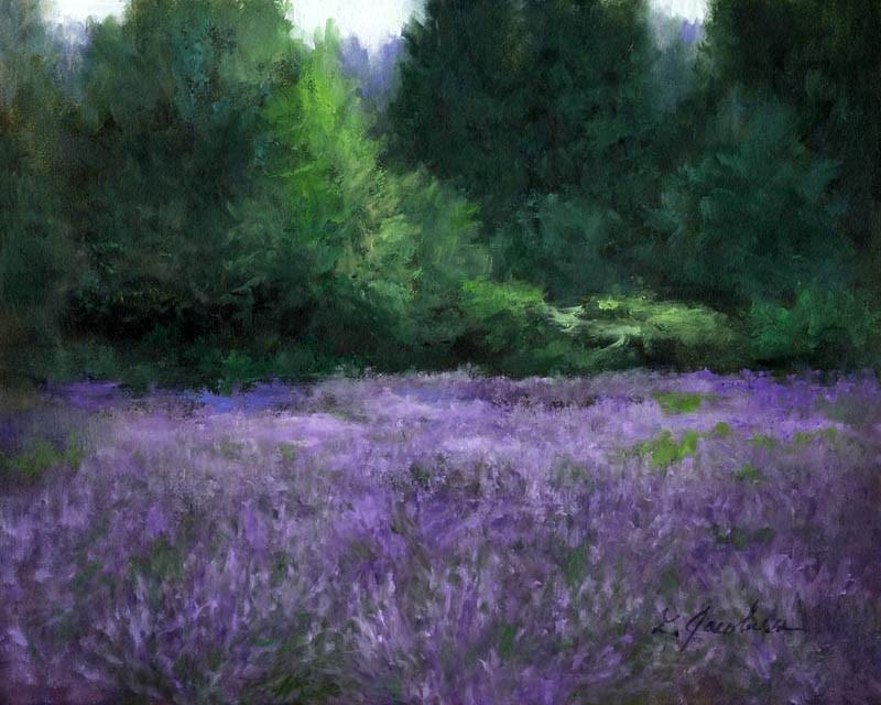 """Lavender Fields II"" original fine art by Linda Jacobus"