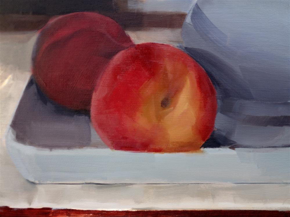 """Peaches with Sugar Bowl (no.114)"" original fine art by Michael William"