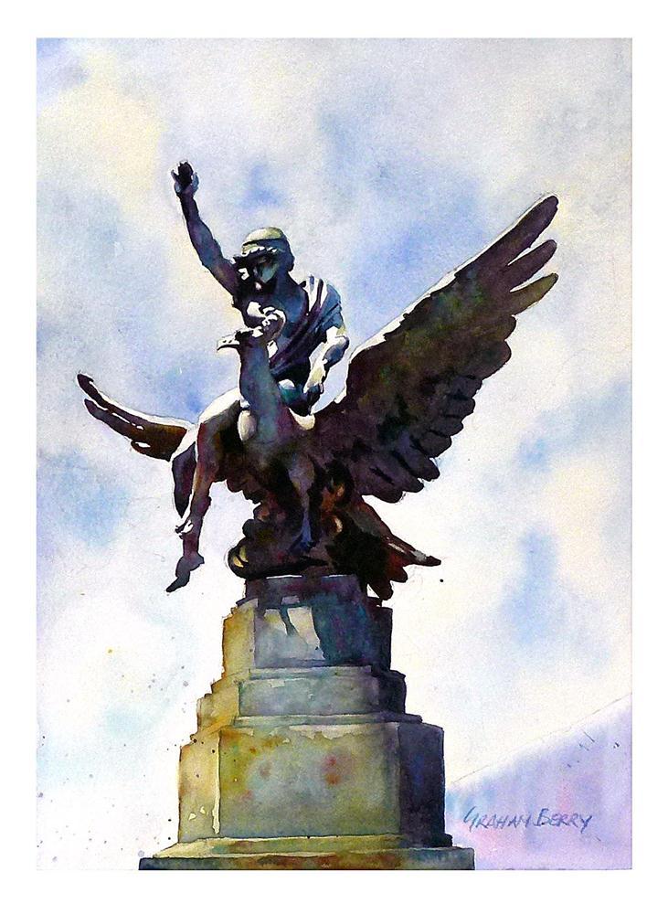 """Angel Guimera."" original fine art by Graham Berry"