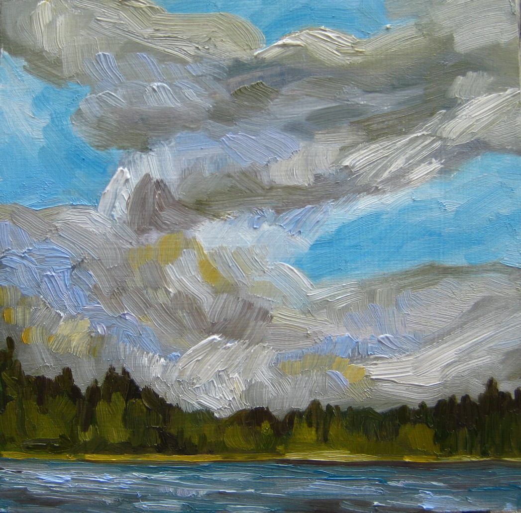 """Alone With The Sky"" original fine art by Nicki Ault"