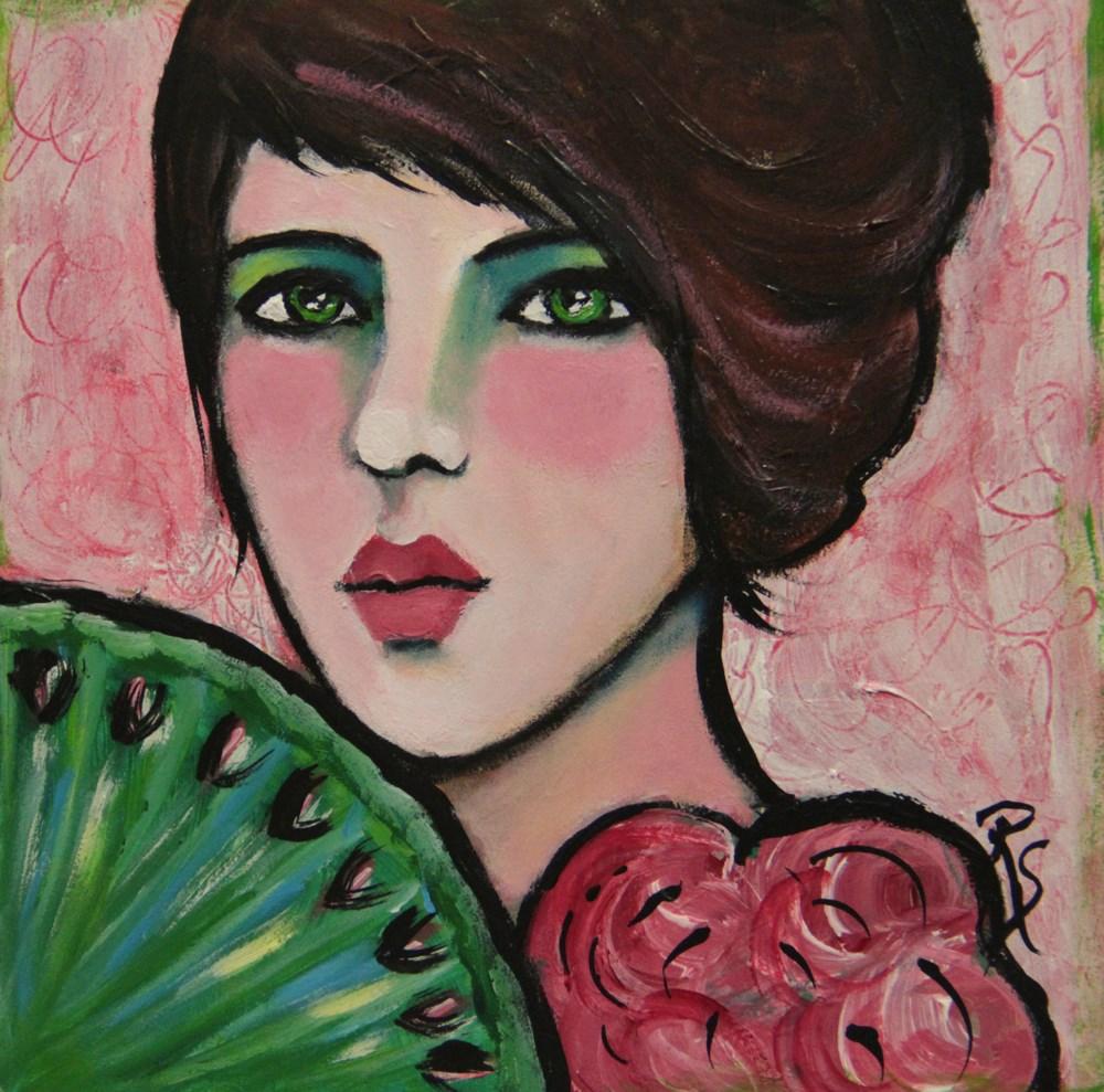 """""""Coco in Pink"""" original fine art by Roberta Schmidt"""