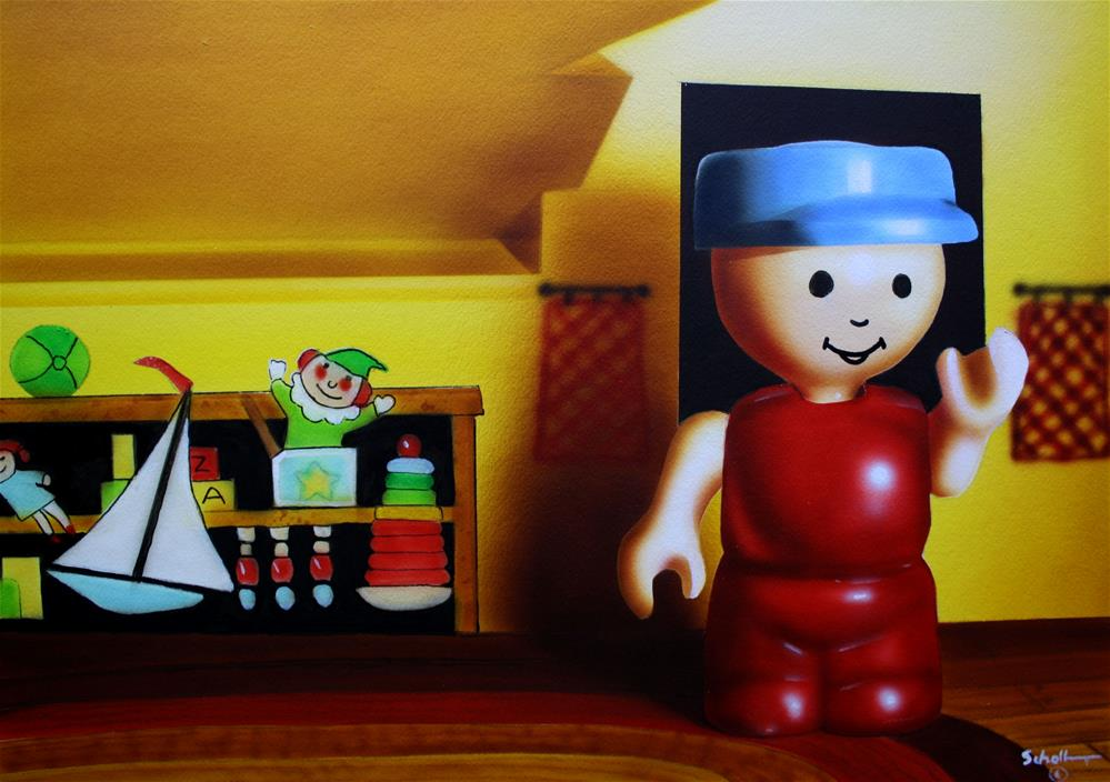 """""""Honey the Kids Finally Cleaned Their Room"""" original fine art by Fred Schollmeyer"""