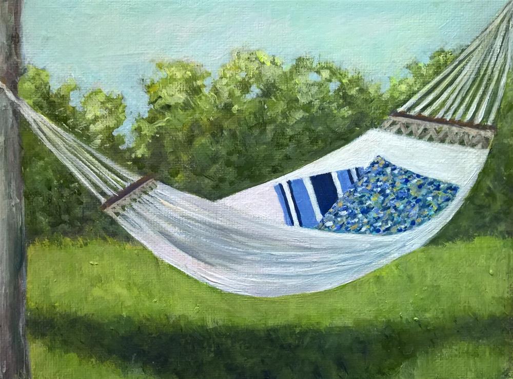 """Hammock"" original fine art by Joan Matero"