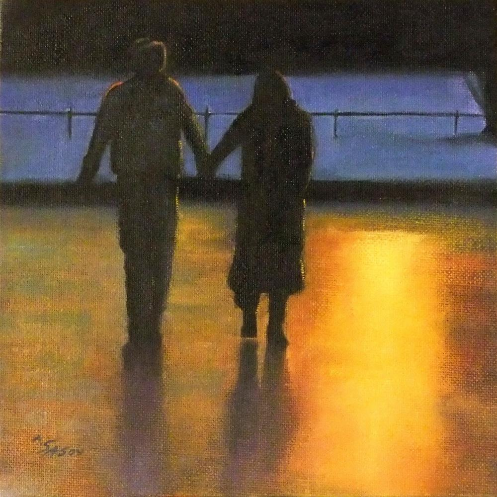 """Walking together"" original fine art by Michael Sason"