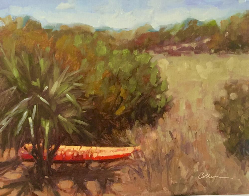 """""""Orange Kayak"""" original fine art by Colleen Parker"""