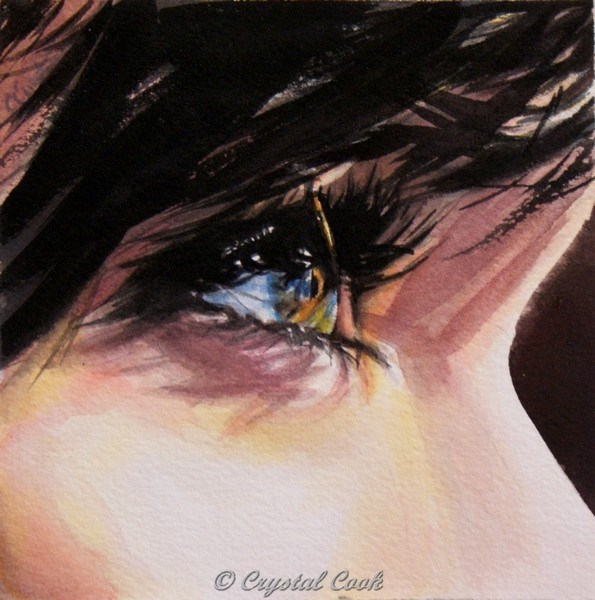 """Lunette"" original fine art by Crystal Cook"