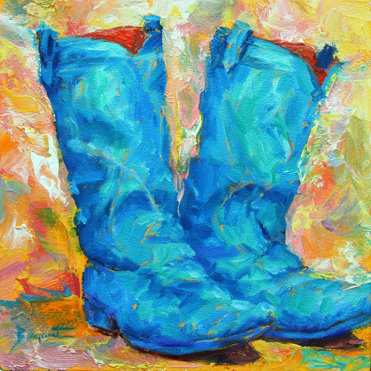 """Party! Boots"" original fine art by Debra Bryant"