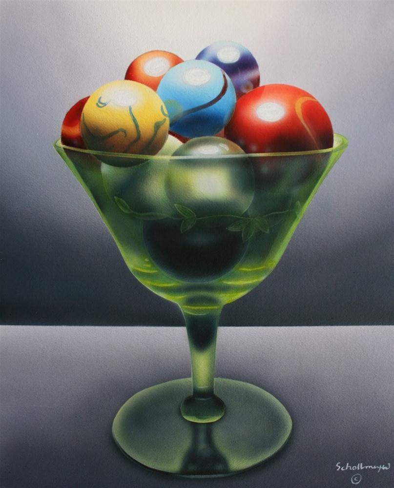 """""""Marbles # 19"""" original fine art by Fred Schollmeyer"""