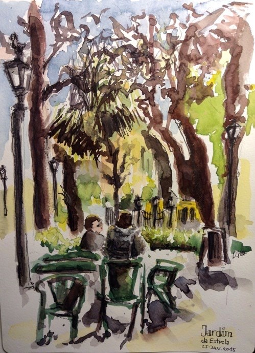 """1257 Jardim do Estrela"" original fine art by Dietmar Stiller"
