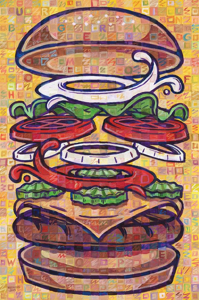 """""""Expanded Cheeseburger (Whopper With Cheese)"""" original fine art by Randal Huiskens"""