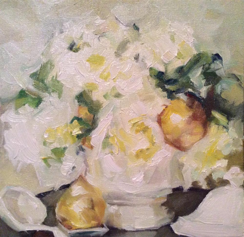 """Golden Pears"" original fine art by Paula Howson-Green"
