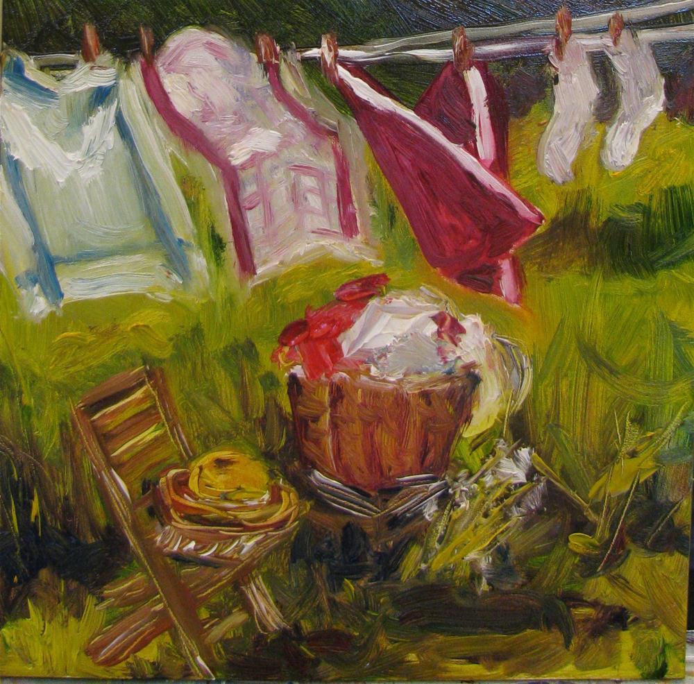 """Clean Cotton II"" original fine art by Susan Elizabeth Jones"