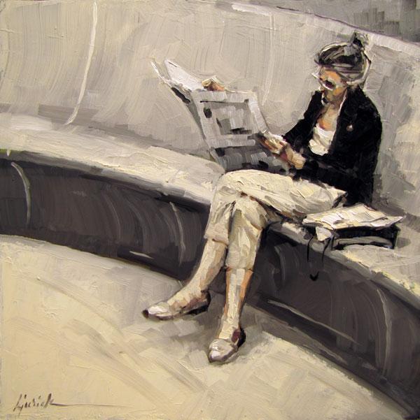 """The News in Black & White"" original fine art by Karin Jurick"