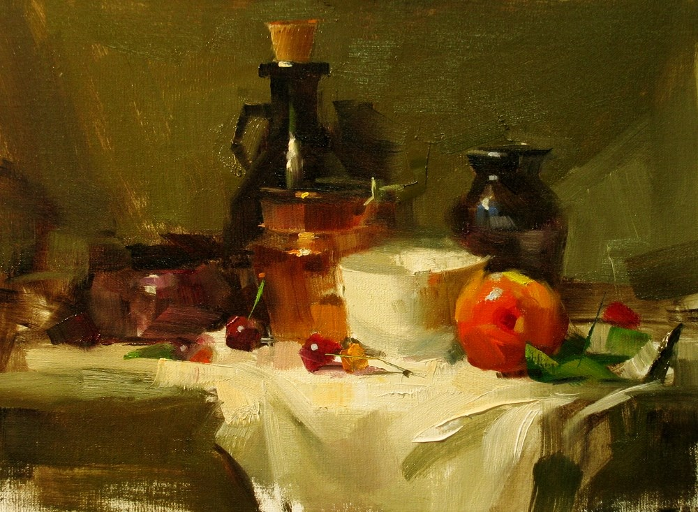 """""""Demo at Whidbey Island 1 --- Sold"""" original fine art by Qiang Huang"""