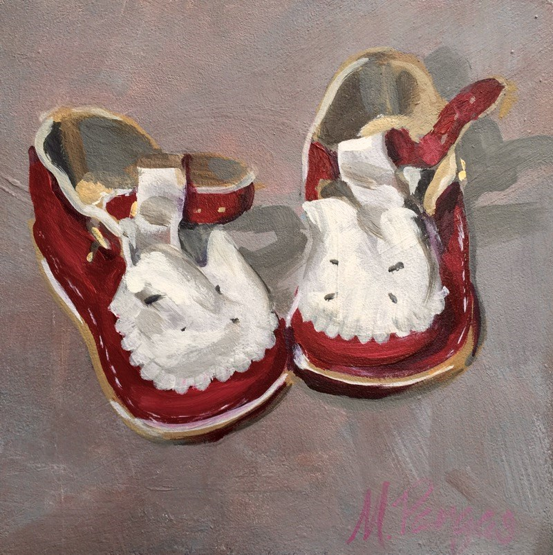 """Ready To Toddle"" original fine art by Mary Pargas"