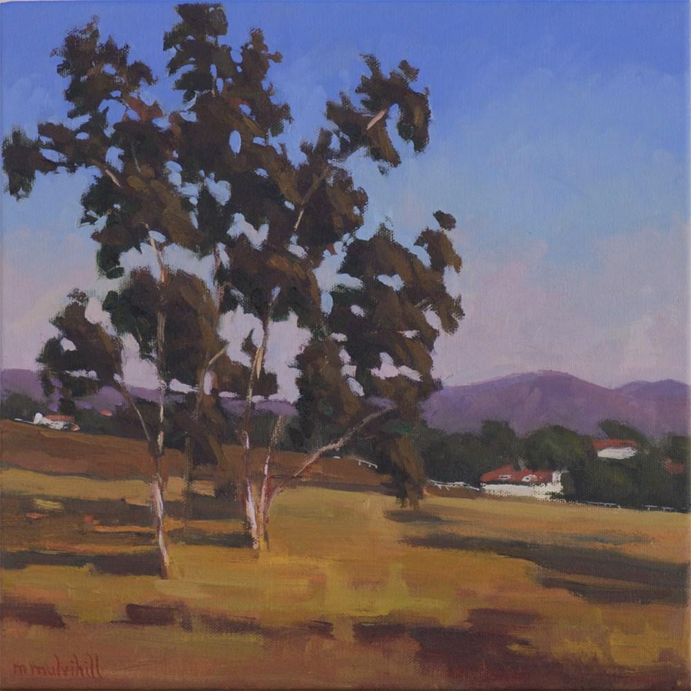 """Temecula Eucalyptus, Late Afternoon"" original fine art by Mary Mulvihill"