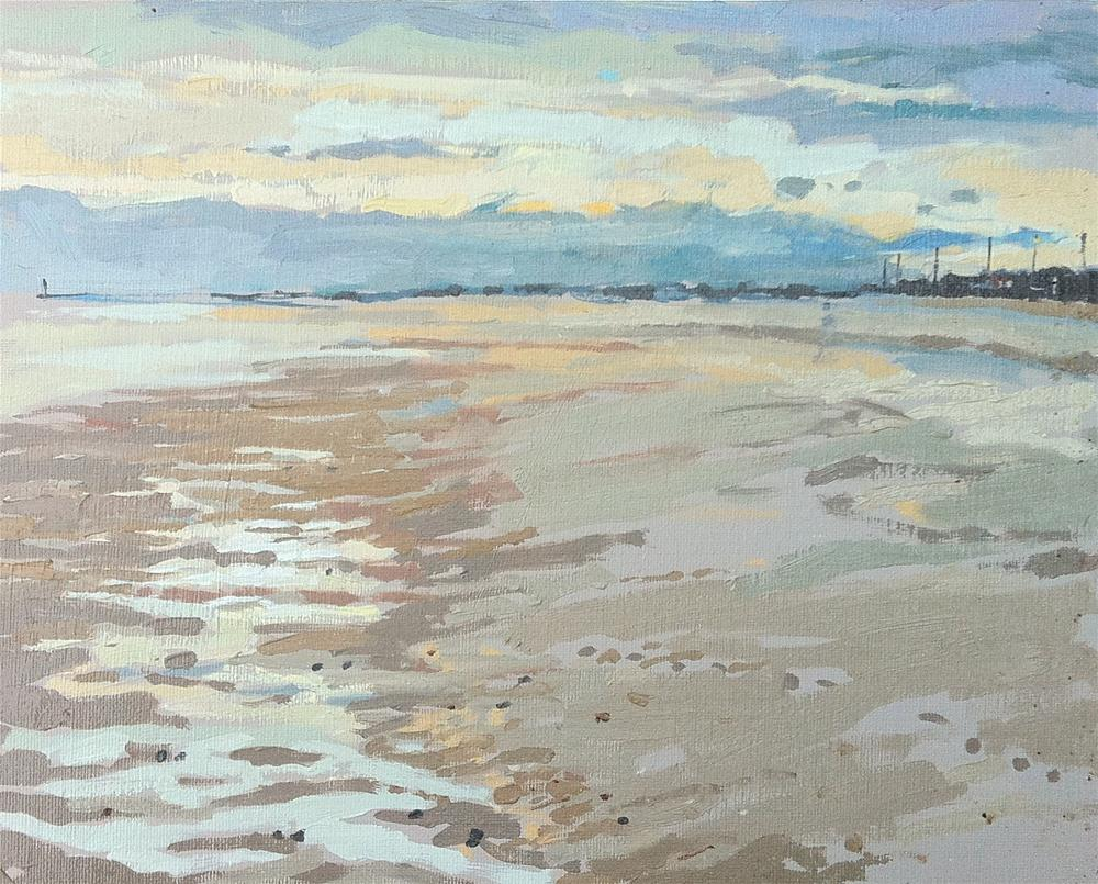 """""""Sutton on sea with Maisie and Mabel"""" original fine art by Haidee-Jo Summers ROI"""