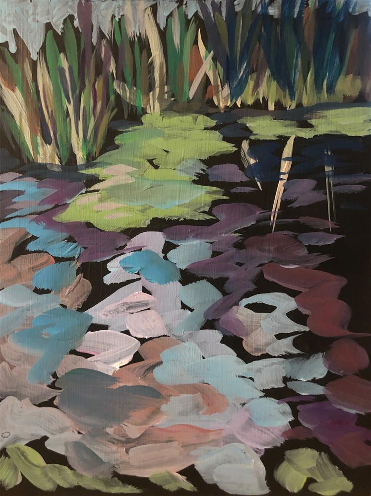 """Reeds and Reflections"" original fine art by Kat Corrigan"