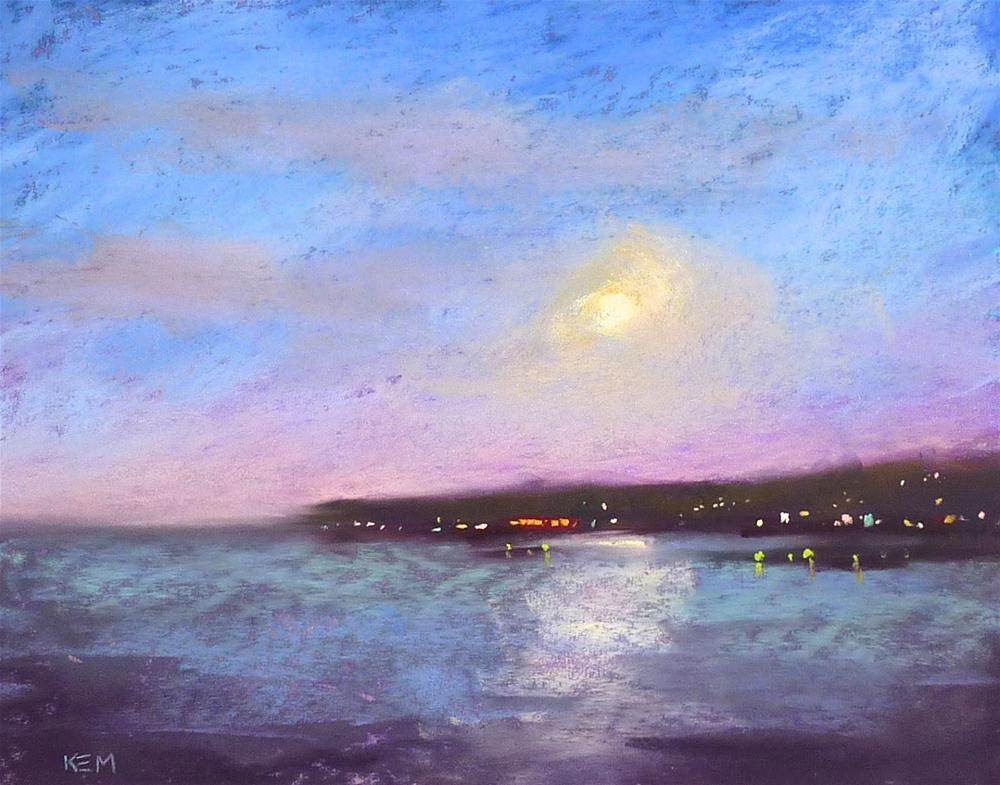 """My Top 3 Tips for Painting the Night Sky with Pastels"" original fine art by Karen Margulis"