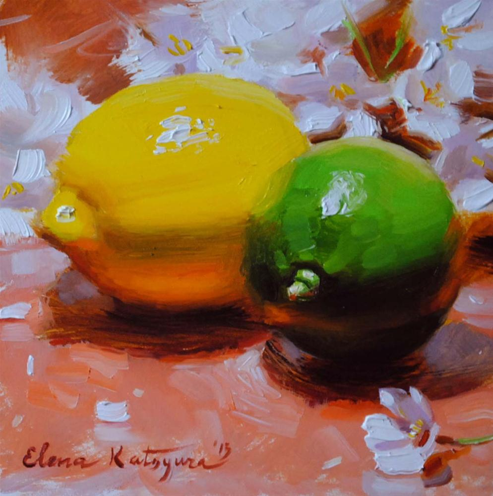 """Citrus Blossoms"" original fine art by Elena Katsyura"