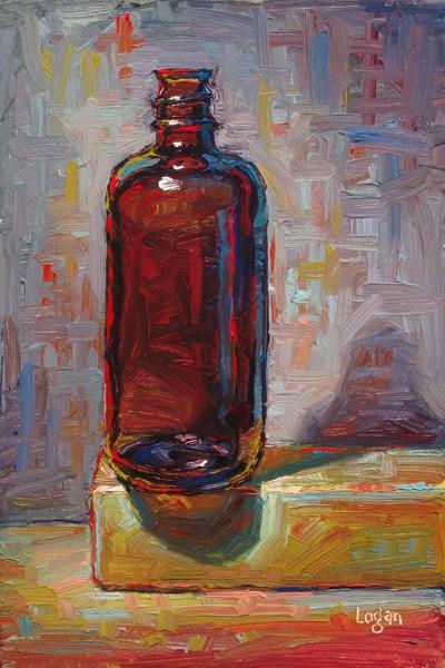 """Lysol Bottle on Block"" original fine art by Raymond Logan"
