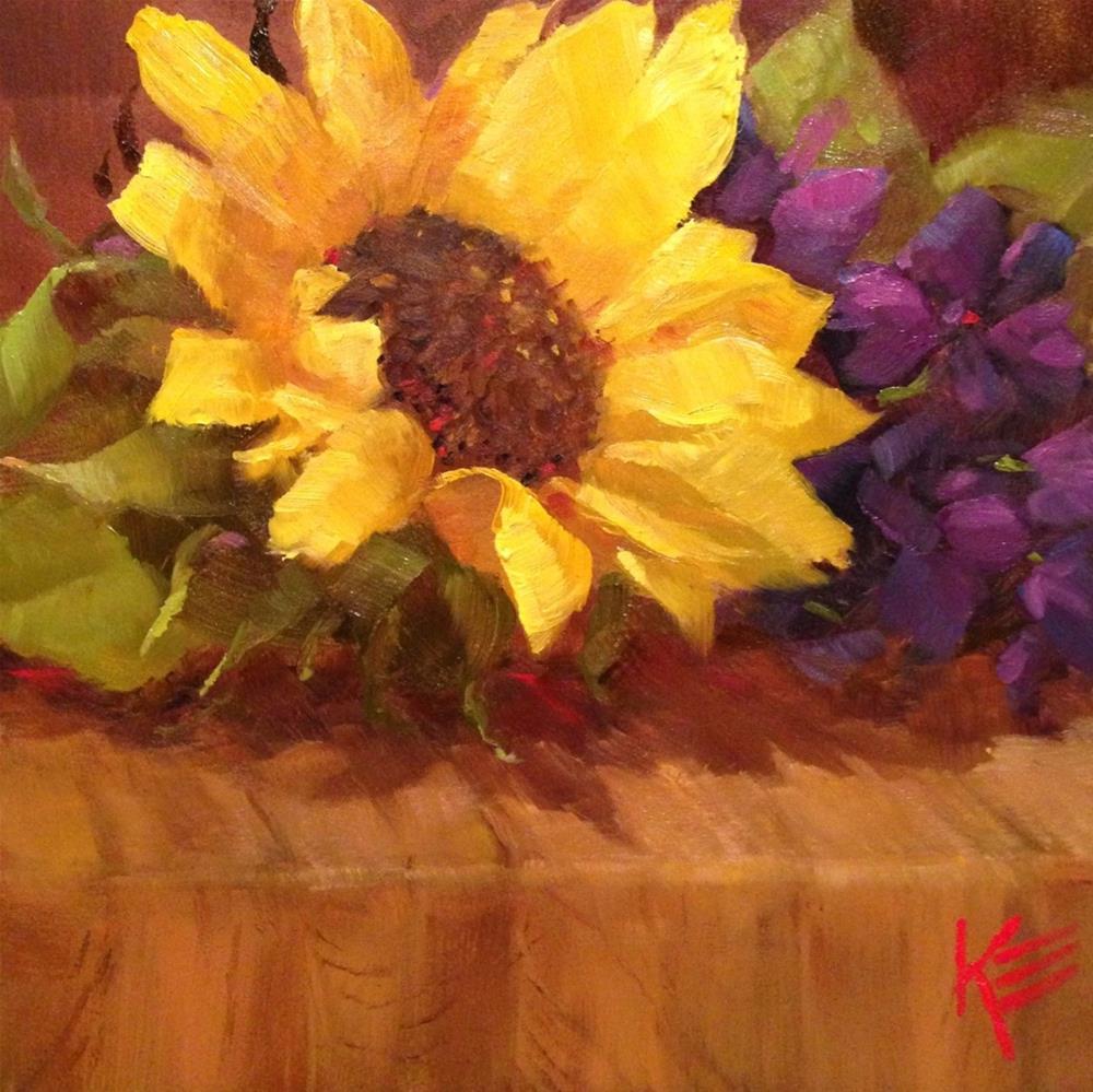 """Sunflower"" original fine art by Krista Eaton"