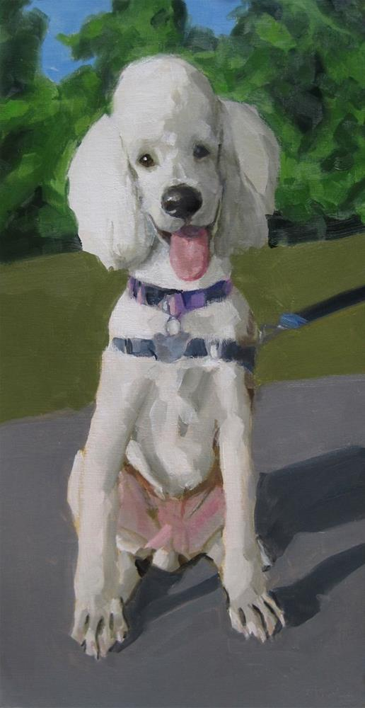 """Happy Poodle"" original fine art by Robin Rosenthal"