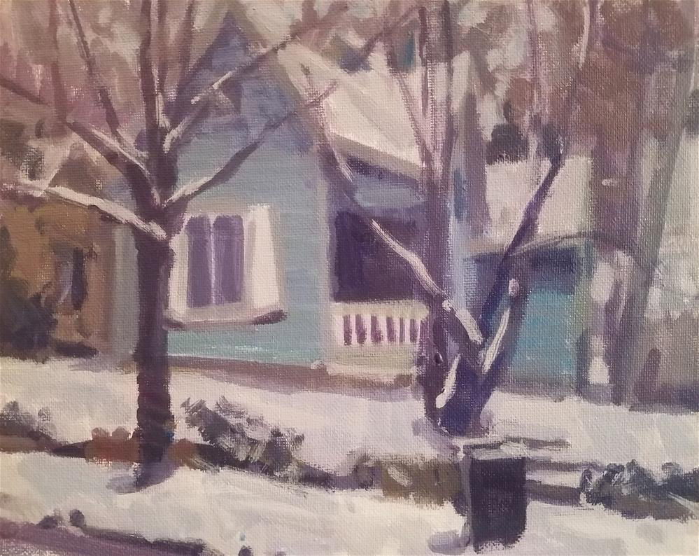 """""""Winter Street Blues"""" original fine art by Roy Boswell"""