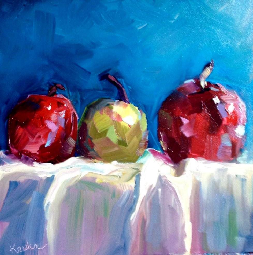 """""""Apples"""" original fine art by Kristen Dukat"""