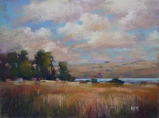 """Sky Painting Tip #1 The Arrangement of Clouds"" original fine art by Karen Margulis"