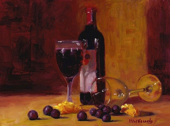 """""""My Cup Runneth Over"""" original fine art by Michael Kennedy"""