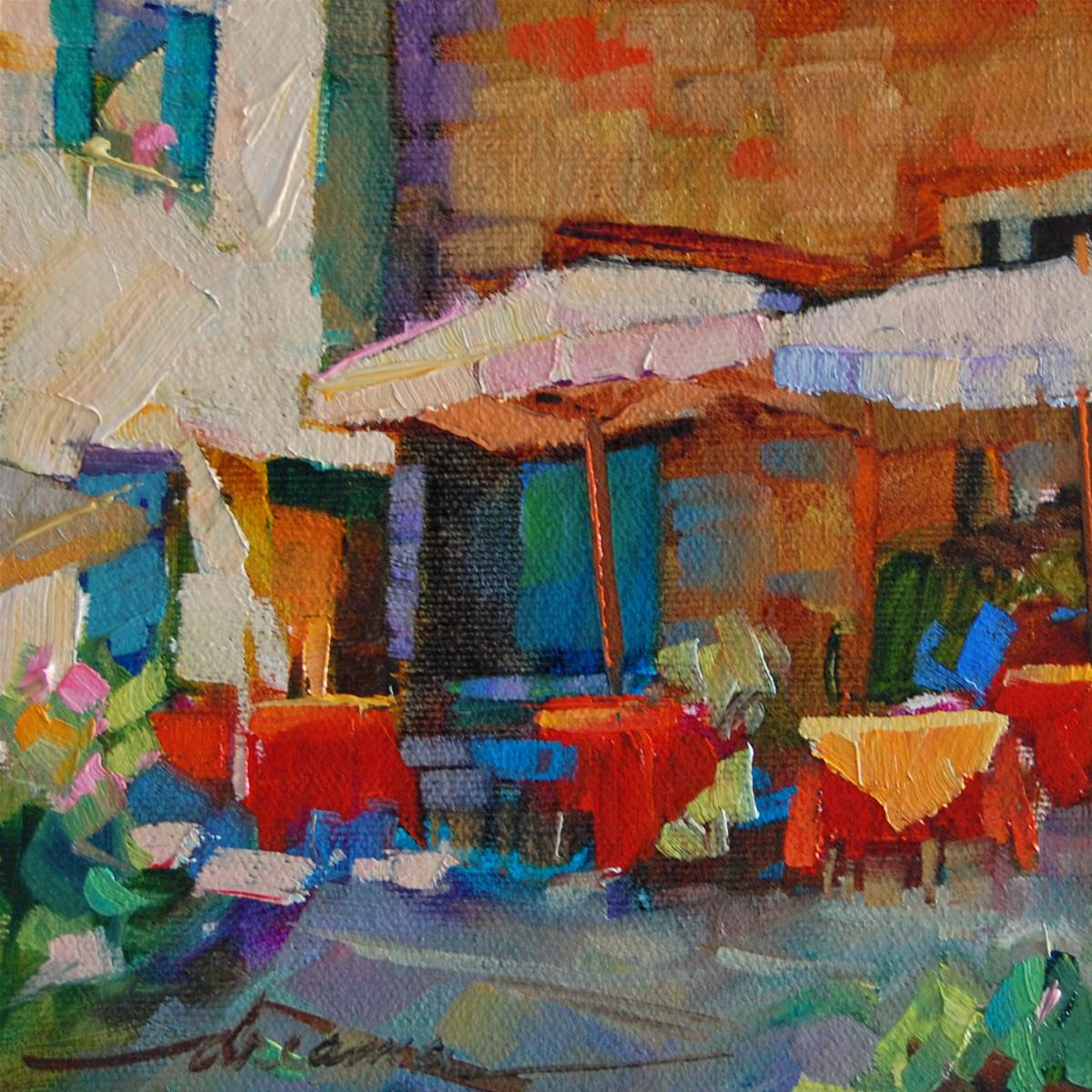 """""""Lunch with the Girls"""" original fine art by Dreama Tolle Perry"""