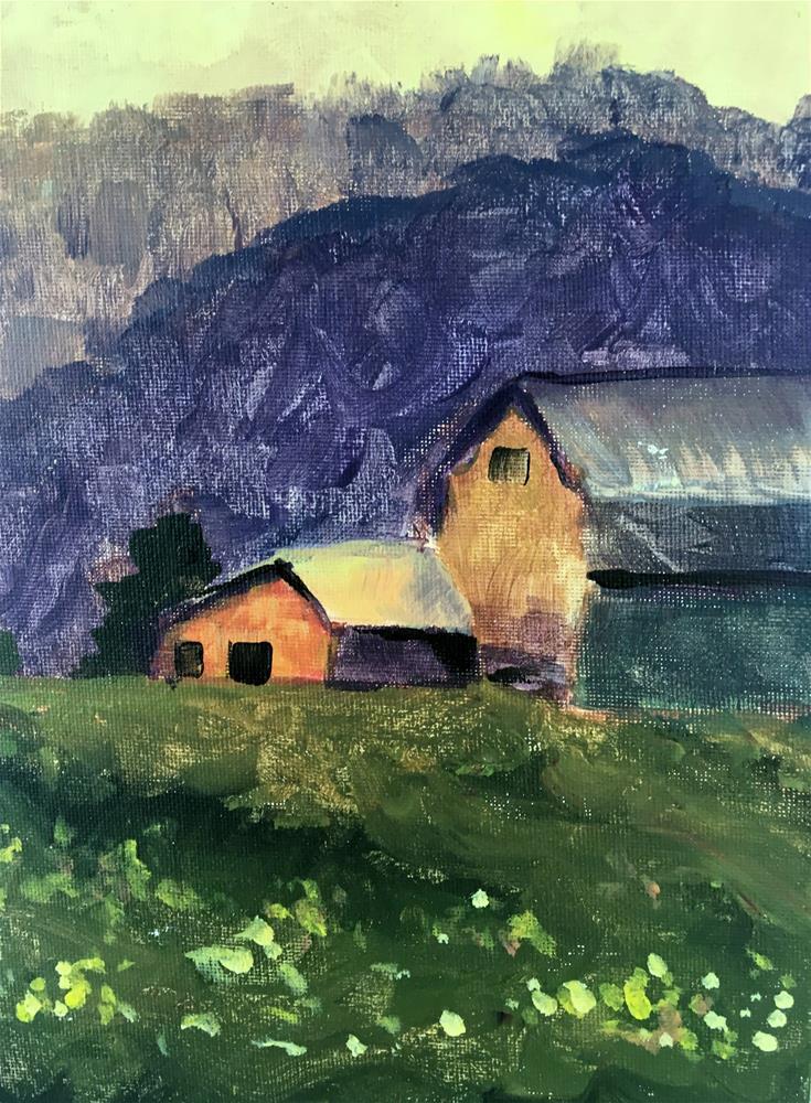 """Barn"" original fine art by Susan Elizabeth Jones"