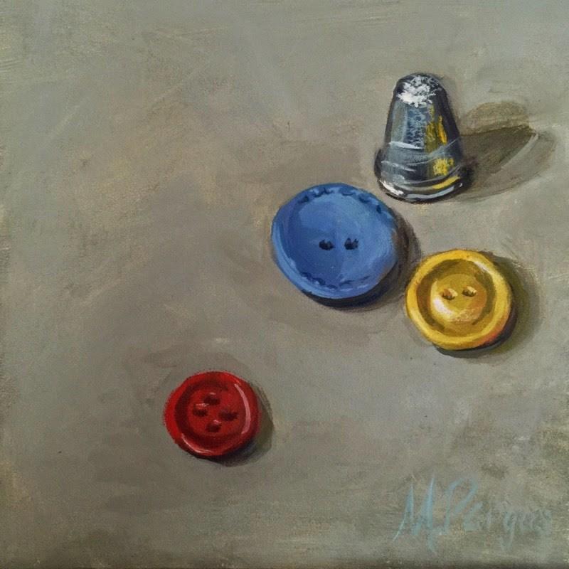 """Button Button"" original fine art by Mary Pargas"