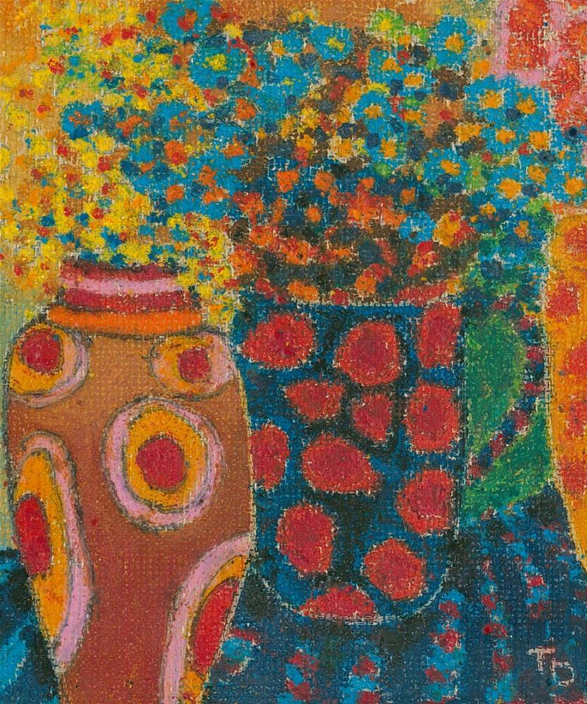 """350 FLOWERS ABSTRA CT 8 "" original fine art by Trevor Downes"