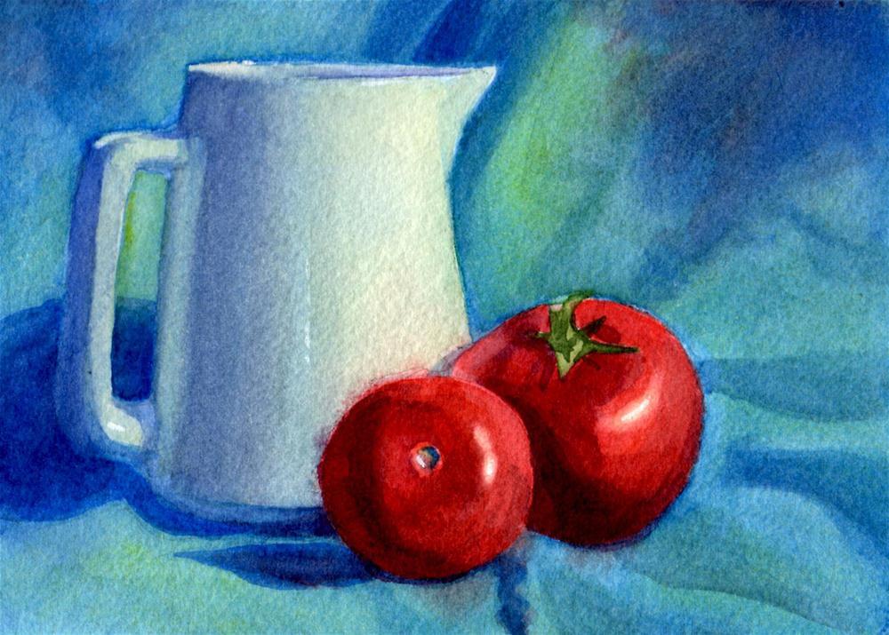 """A Whole Lotta Blue"" original fine art by Susan McManamen"