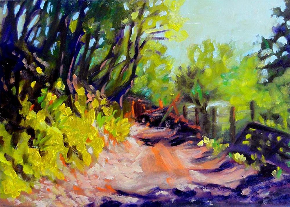 """Walking Home"" original fine art by Cietha Wilson"