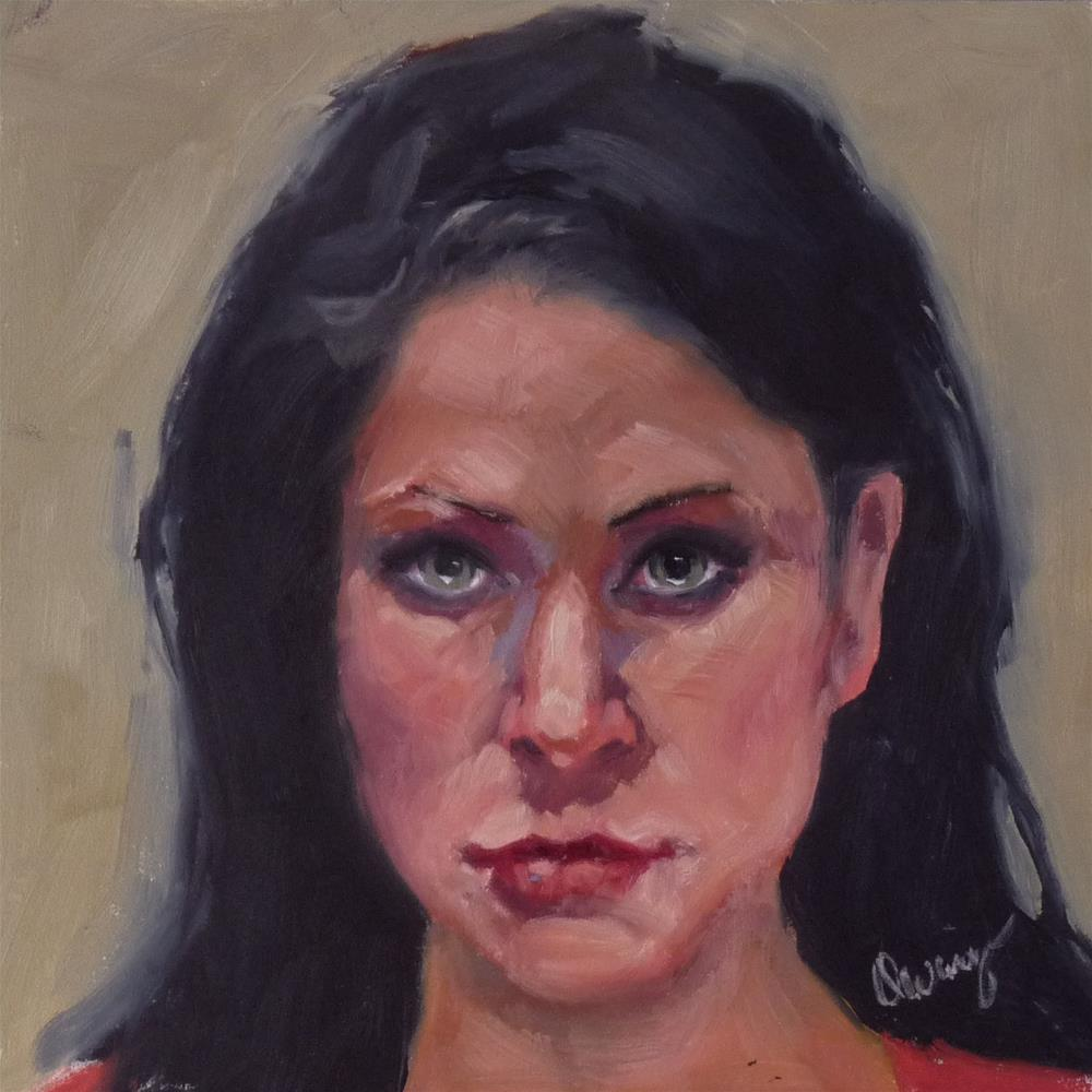 """Dare Me"" original fine art by Sharman Owings"